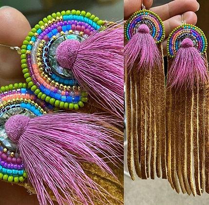 Cruise statement fringe earrings by Kaylyn Baker