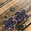 Thumbnail: Gwich'in floral studs by Sharon Vittrekwa