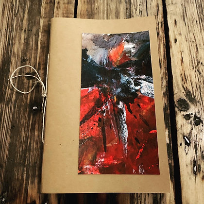 Handmade paper and ink drawing notebook by Esther Bordet