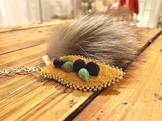 Blackberry & Silver Fox charm necklace by Vashti Etzel /Golden Eye Designs