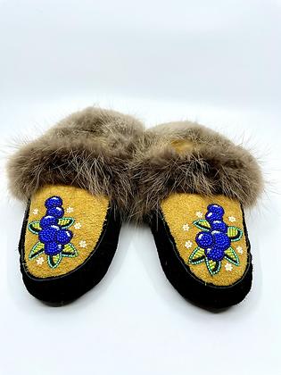 Blueberry slippers by Josslyn James