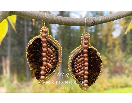 Chocolate Copper /Métis North Luxe Leaf Collection