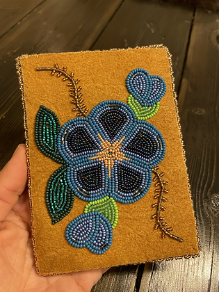 Gwich'in floral passport and ID holder by Sharon Vittrekwa