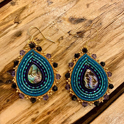 Abalone tear drops by Janelle Hager