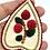"""Thumbnail: """"Ītl'ét"""" Cranberries pendant by Vashti Etzel, Golden Eye Designs"""
