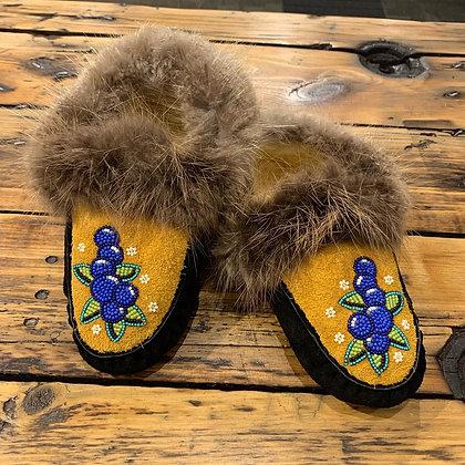 Blueberry slippers by Josslynn James