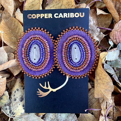 'Plum Goblins' earrings by Copper Caribou Creations