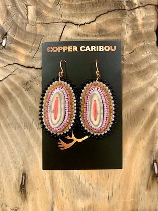 Pink Posies earrings by Copper Caribou