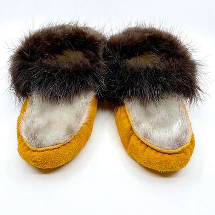 Seal & beaver moccasins by Ronald Williams