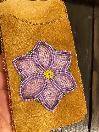 Beaded Gwich'in Floral cell phone sleeves by Sharon Vittrekwa