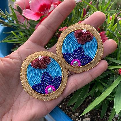 Spring flower earrings by Agnes Firth