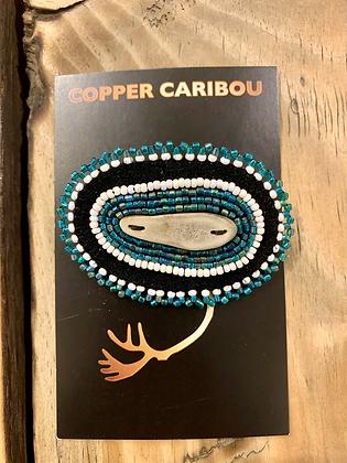Aqua Foam brooch by Copper Caribou