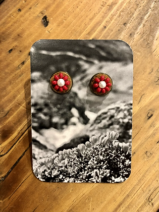Bead & pearl studs by Wild Wandering Woman