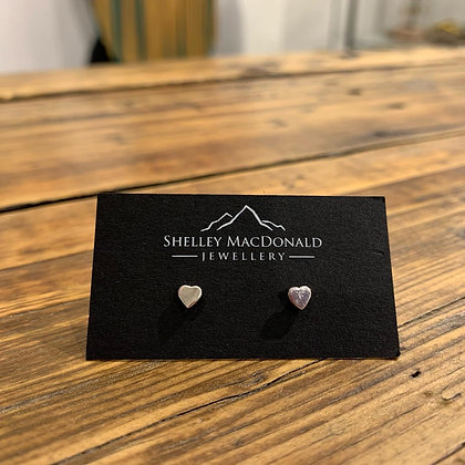 Stirling silver heart studs by Shelley MacDonald