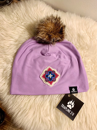 Northern fur & floral collab toque by Robin Bradasch & Trapline 2 U