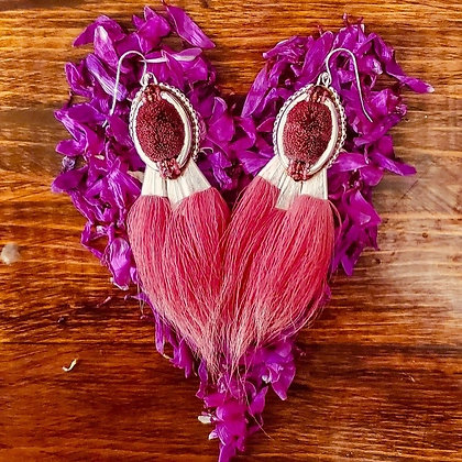 Valentina Rose Petal earrings by Maria Rose Sikyea