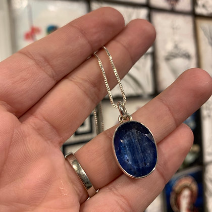 Rutilated blue quartz in sterling silver setting by Shelley MacDonald