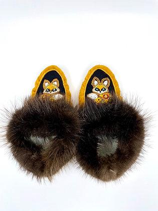 Little fox moccasins by Minnie Clark