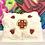 Thumbnail: Beaded hearts fur decor pillow by Lisa Dewhurst