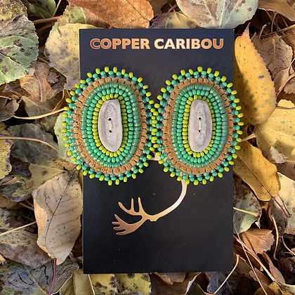 'Jungle Portals' earrings by Copper Caribou Creations