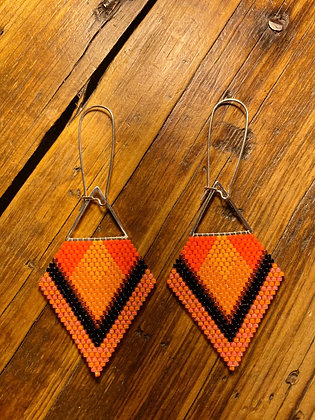 Sunset delica dangles by JS Blake Creations - large