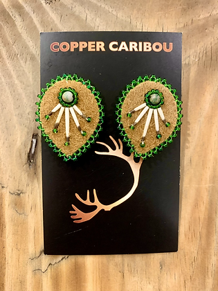 Droppin' Mad Quills earring by Copper Caribou