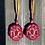 Thumbnail: Wild Rose statement fringe earrings by Kaylyn Baker