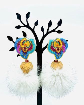 Golden Hour Sunset earrings by Kaylyn Baker