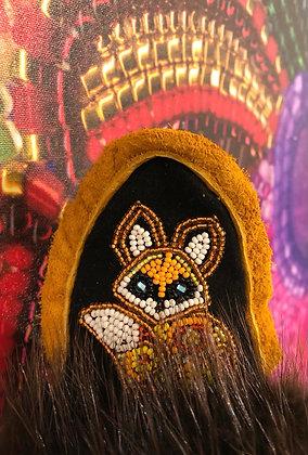 Children's fox slippers by Minnie Clark