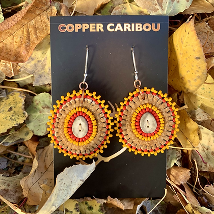 'The Smallest Sunrise' earrings by Copper Caribou Creations