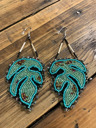 Fern Gully earrings by Ashley Carvill