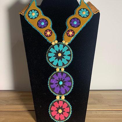 Beaded statement necklace by Karen Bien