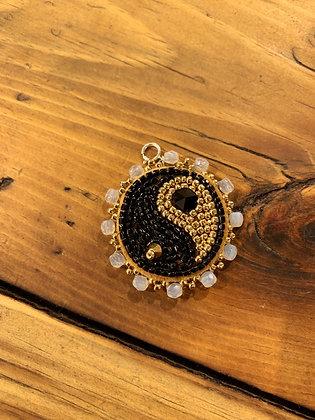Yin & Yang charm by Vashti Etzel /Golden Eye Designs