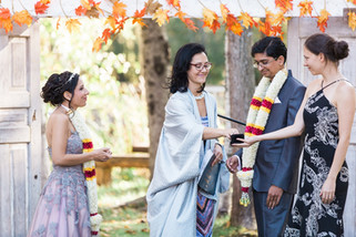 What does your Officiant do when they arrive on site?