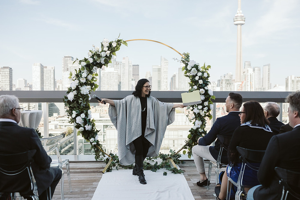Friend Conducting Wedding Ceremony