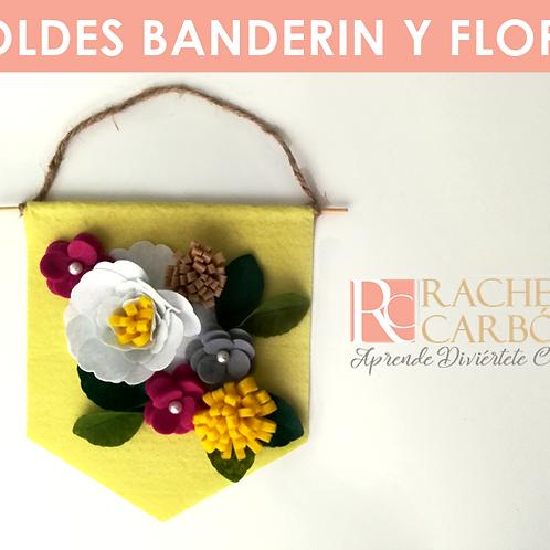 MOLDES DE BANDERÍN Y FLORES