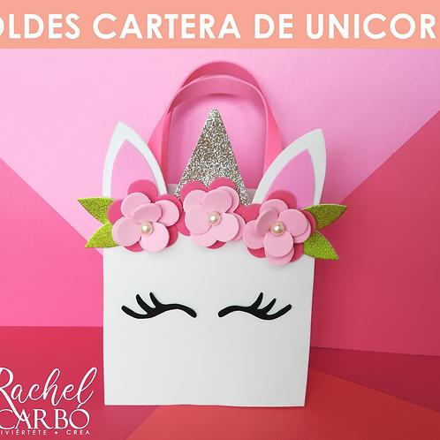 MOLDES CARTERA DE UNICORNIO