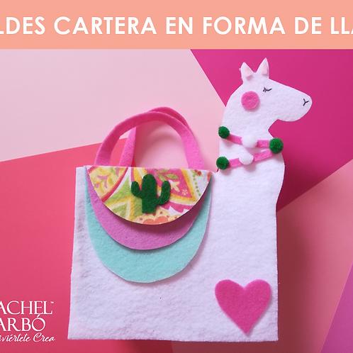 MOLDES CARTERA FORMA DE LLAMA