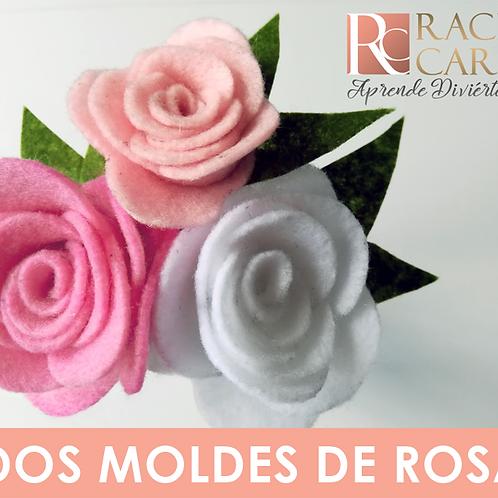 DOS MOLDES DE ROSA