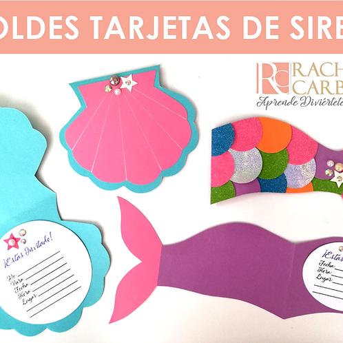 MOLDES DE TARJETAS DE SIRENA