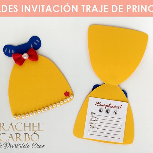 MOLDE PARA INVITACIÓN DE PRINCESA