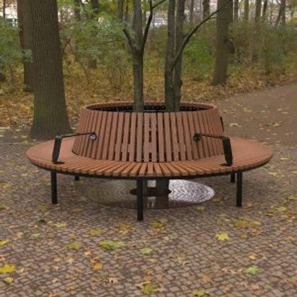Wandin Semi Circular Timber Seat with Back
