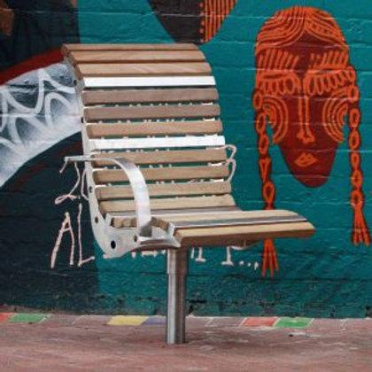 Monash Stainless Steel Swivel Seat
