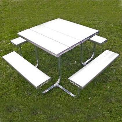 Square 4 Sided Picnic Table Aluminium