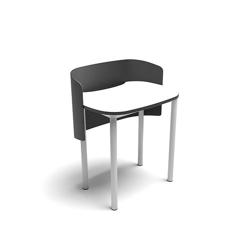 Rounded Square Study Carrel