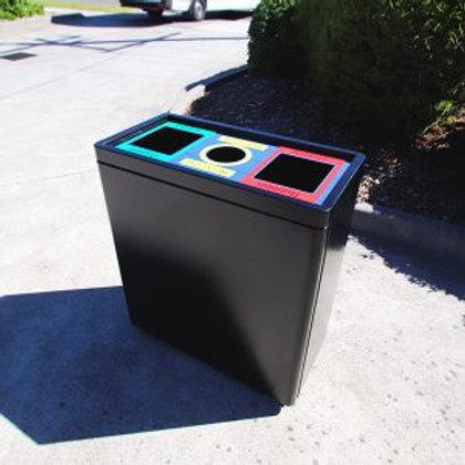 Triple Tub Internal Recycling Bin