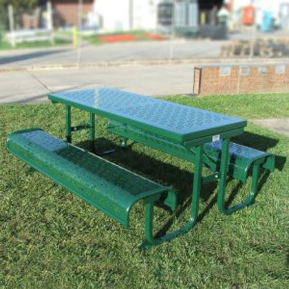 Piper Perforated Steel Picnic Table Setting