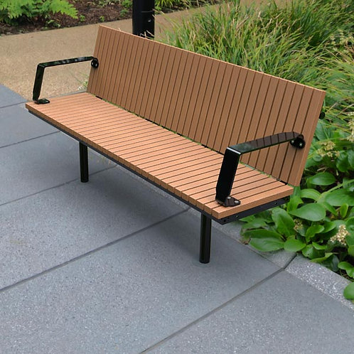 Wandin Straight Timber Seat with Back