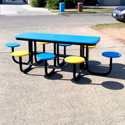 Recycled Plastic Rectangle Satellite Cafe Table Setting