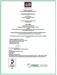 FSSC 22000 Certified   Organic Products   Saskatchewan   Stonehenge